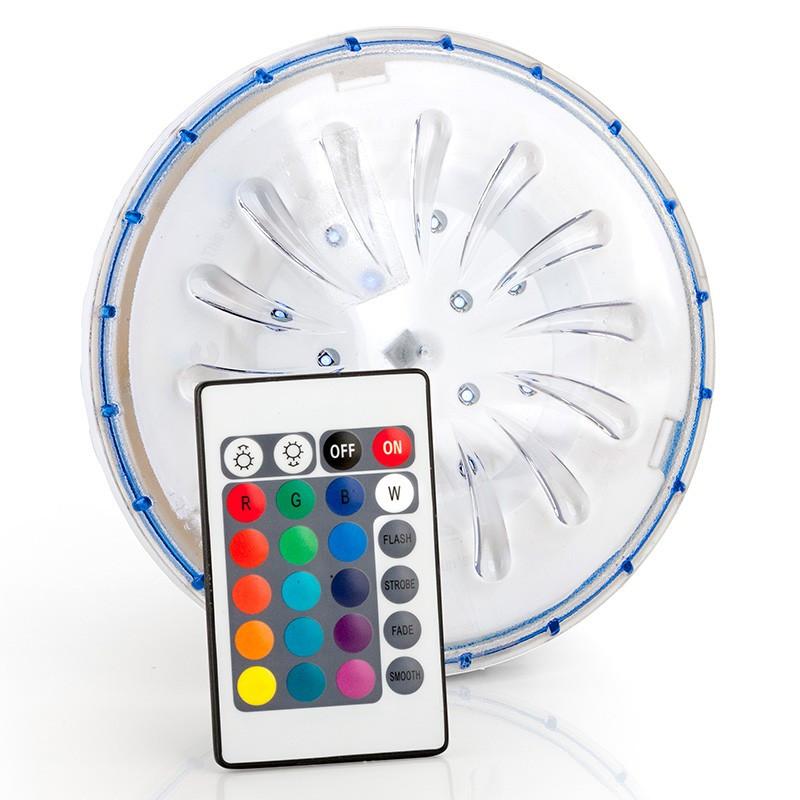 Foco LED color RGB para piscina desmontable acero PLED1C