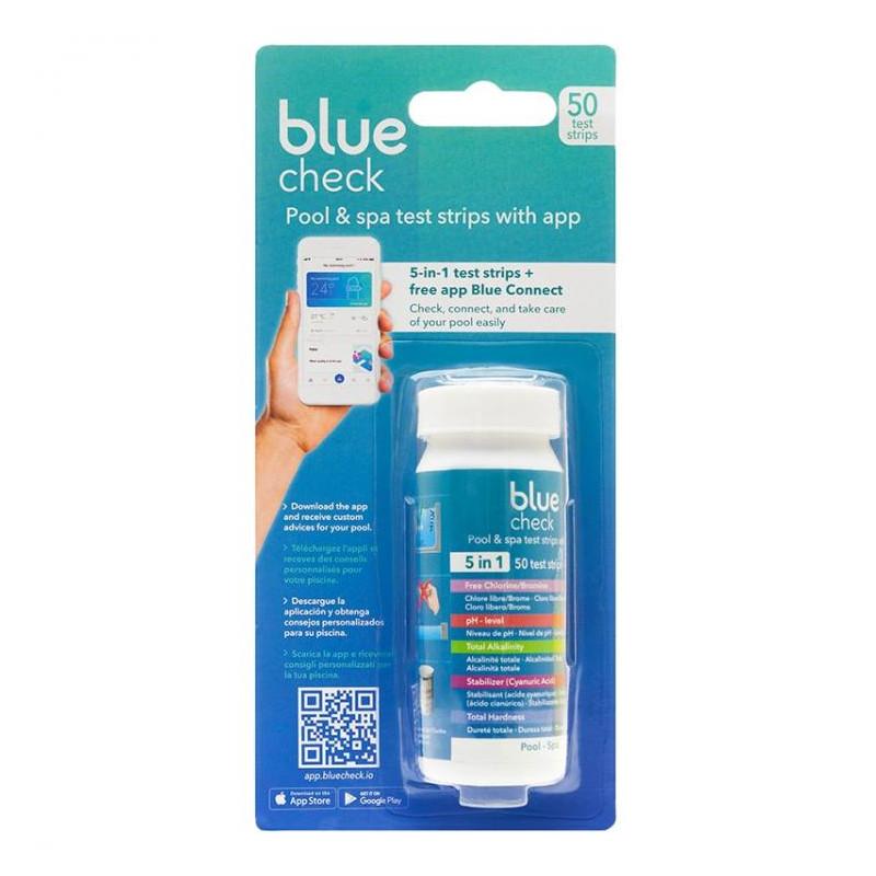 Blue Check tiras analíticas 5-en-1 para test  App