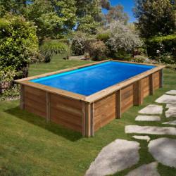 Piscina de madera Gre Sunbay Lemon rectangular 375x200x68