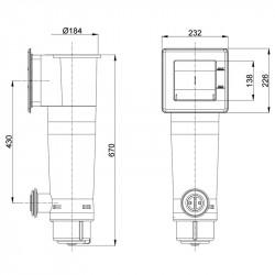Filtro de cartucho Gre AR125 3.800 l/h 70W