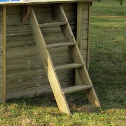 Piscina de madera Gre Sunbay Vermela ovalada 672x472x146