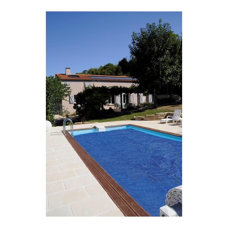 Cubierta isotérmica para piscina de obra rectangular