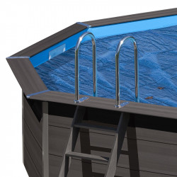 Cubierta isotérmica piscina composite Gre ovalada