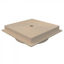 Tapa circular y marco cuadrado skimmer 15 L.