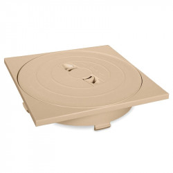 Tapa circular y marco cuadrado skimmer 17,5 L.
