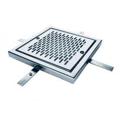 Reja de desagüe cuadrada en acero inox AISI 304