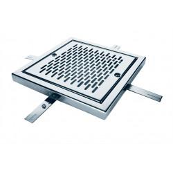 Reja de desagüe cuadrada en acero inox AISI 316