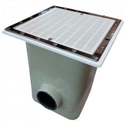 Sumidero Norm 515x515 mm reja plastico piscina Liner y pref