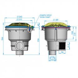Sumidero Norm reja antivortex piscina Liner y prefabricada