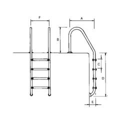 Escalera standard para piscina AstralPool