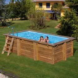 Piscina de madera Gre Sunbay Marbella rectg 427x277x110