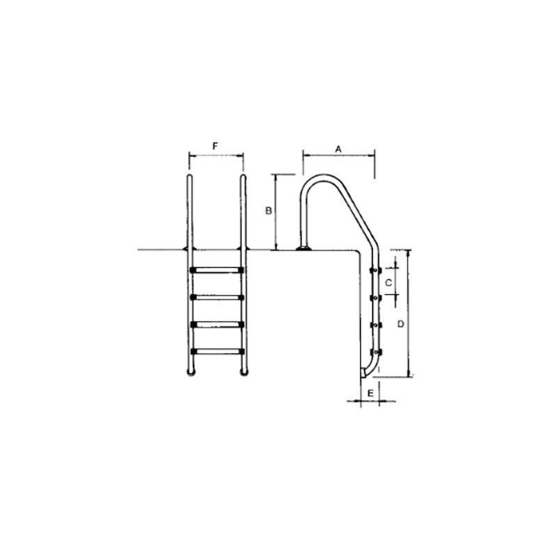 Pasamanos Escalera Standard 4 Peldaños Astralpool
