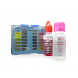 Estuche Pooltester líquido Cloro Total, Bromo Total y pH