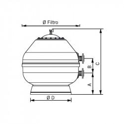 Filtro Vesubio con válvula lateral