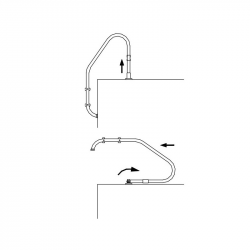 Anclaje articulado escalera piscina AstralPool 00043