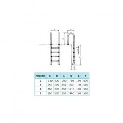 Escalera muro standard para piscina AstralPool