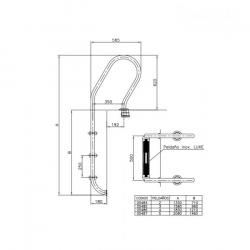 Escalera mixta standard para piscina AstralPool AISI 304
