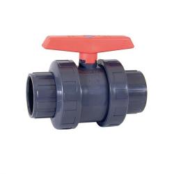 Válvula de bola en PVC-U Serie PN10. Antiblock D-63 mm
