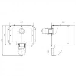 Cuerpo para skimmer A202 AstralPool