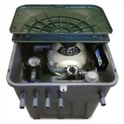 Compacto enterrado de PVC Keops con filtro y bomba