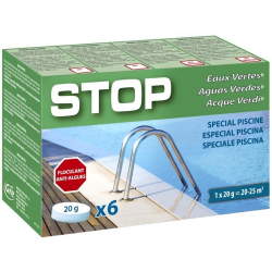 Stop aguas verdes. Caja de 6 pastillas de 20 grs Gre