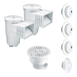 ABS accessory kit for embedding in concrete pools