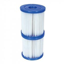 Set dos filtros de cartucho tipo II Bestway para depuradora