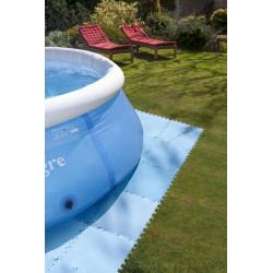 Tapiz de suelo para piscinas desmontables 9 ud. de 50x50cm